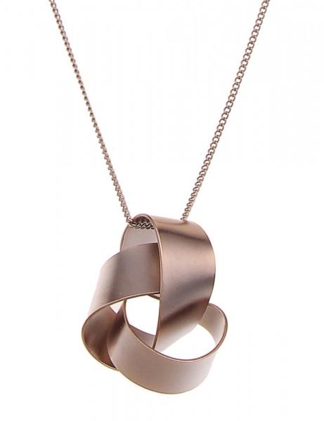 Leslii Damen-Kette Premium Quality Knoten Metalllegierung 80cm + Verlängerung 220315601