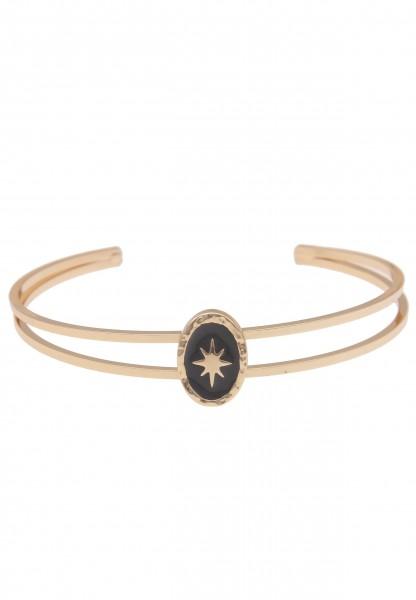 Leslii Damen-Armband Armreif Stella Stern-Armband Stern-Schmuck Armschmuck goldenes Modeschmuck-Armb
