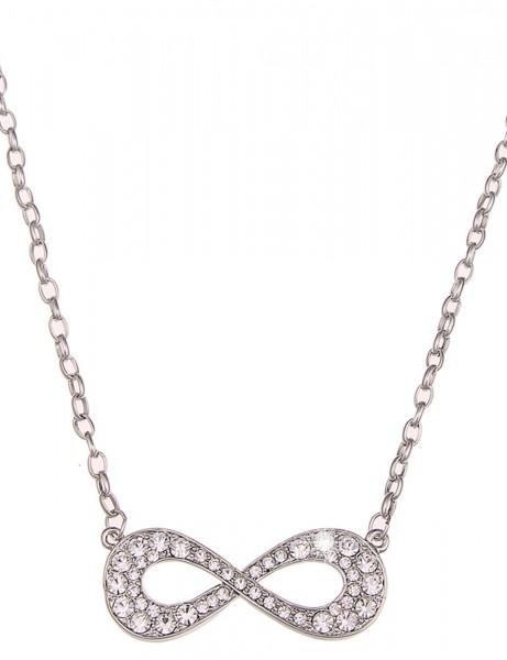 -50% SALE Leslii Halskette Unendlichkeit Silber | lange Damen-Kette Mode-Schmuck | 88cm + Verlängeru