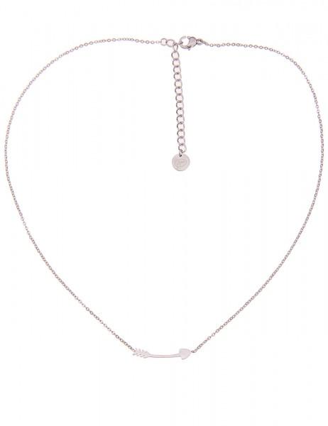 -50% SALE Leslii 4teen Damenkette Pfeil aus Metalllegierung Länge 39cm in Silber