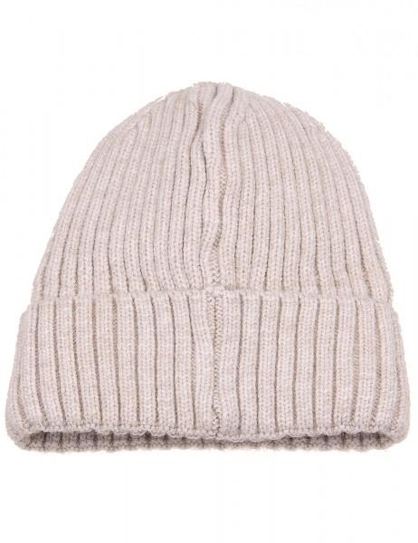 -50% SALE Leslii Winter-Mütze Rippstrick Fleece-Futter 100% Viskose Einheitsgröße Beige 920217232