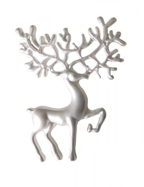-70% SALE Leslii Damen-Brosche Glitzer Hirsch Metalllegierung Strass 4,5cm Silber 270114885