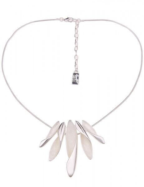 Leslii Damenkette Larissa aus Metalllegierung Länge 43cm in Silber Matt Hochglanz