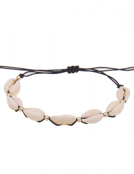 Leslii Damenarmband Muschel Muschelschmuck Sommer Strand Modeschmuck-Armband Länge 19cm in Beige Sch