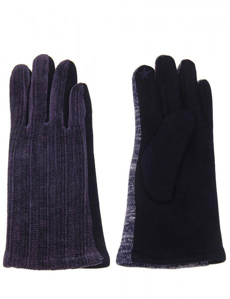 Leslii Damen Handschuhe Strickmuster aus Polyester Größe One Size in Dunkelblau