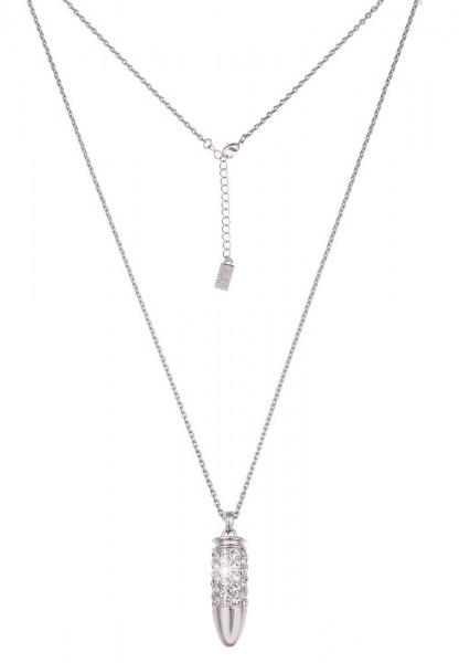 LAST CHANCE! Leslii Lange Halskette Glitzer Patrone in Silber