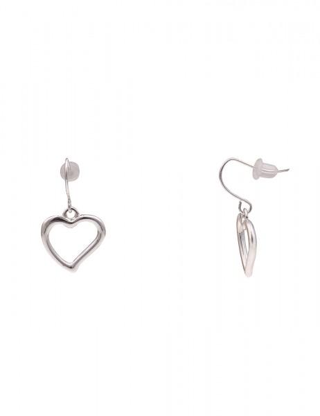 Leslii Damen-Ohrringe Ohrhänger Herz Glanz Metalllegierung Hochglanz Länge 2,8cm 230116928