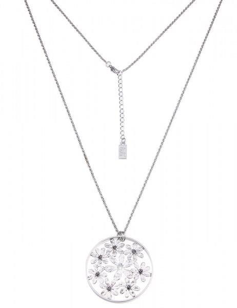 Leslii Damen-Kette Blumen-Ring Metalllegierung 84cm + Verlängerung 220115845