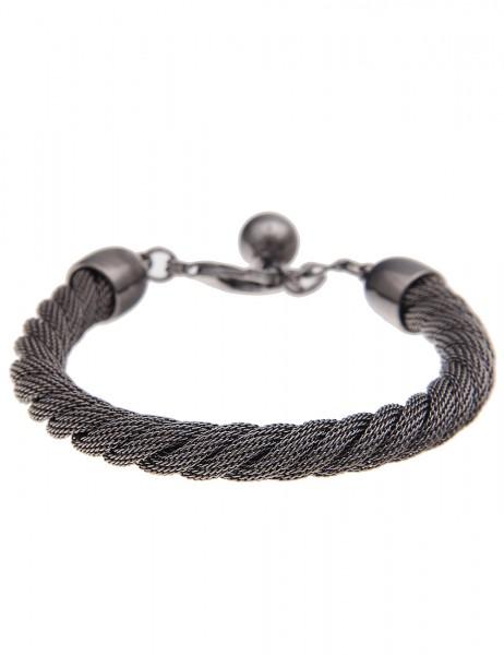 -70% SALE Leslii Damen-Armband Premium Mesh-Swirl Metalllegierung 20cm + Verlängerung 260215607