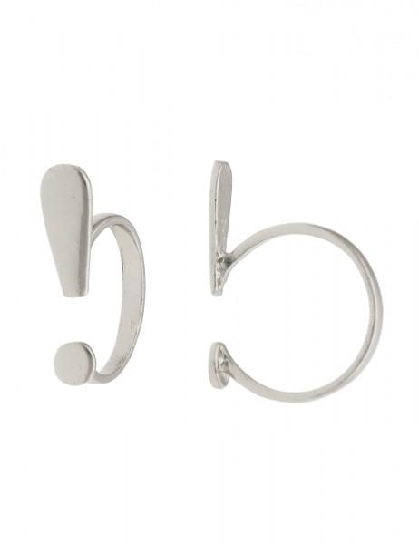 -50% SALE Leslii Damenring Simple Look aus Metalllegierung Größe 17mm 18mm oder 19mm in Silber