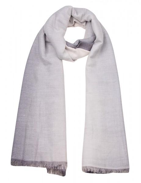 Leslii Damen Schal Farbverlauf weicher Winterschal XXL-Schal grauer Schal Größe 180cm x 73cm in Grau