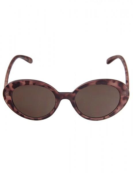 Leslii Sonnenbrille Damen Retro-Brille Horn-Look braune Designerbrille Sunglasses Kunststoff Braun