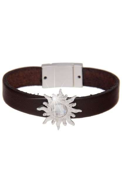 Last Chance Armband Sonne Leder - 08/braun