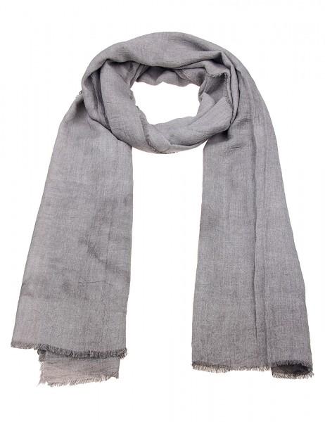 -50% SALE Leslii Damen-Schal Uni Look 50% Viskose, 50% Polyester 180cm x 74cm Grau 900317143