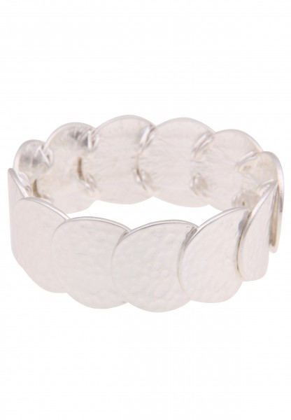 Leslii Damenarmband Armreif Statement-Armband Armschmuck Muster Modeschmuck-Armband Länge 19cm in Si