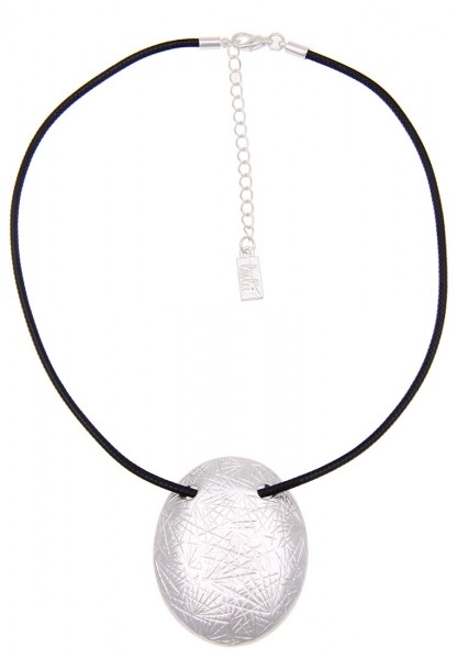 LAST CHANCE! Leslii Kurze Halskette Modern Look in Silber Schwarz