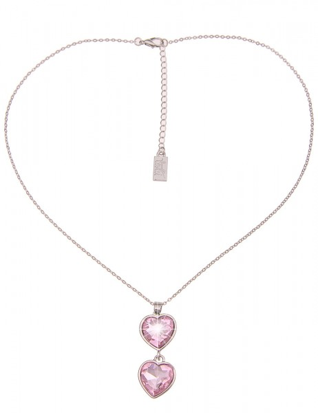 Leslii Damenkette Rosi Tracht Herz-Kette Dirndl-Kette Oktoberfest kurze Halskette silberne Modeschmu