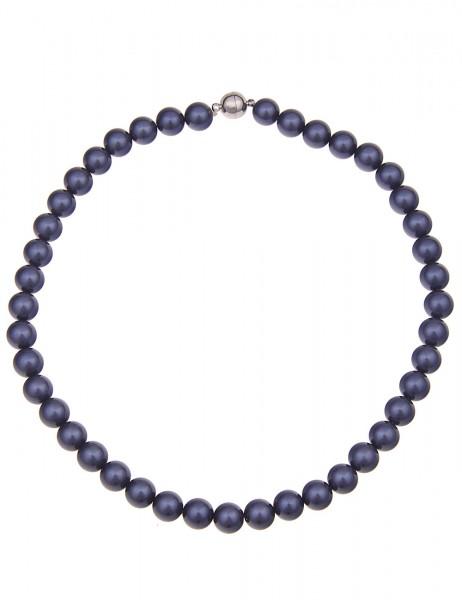 Leslii Damenkette Perlen-Collier Mallorca echte Perlenkette Muschelkern-Perlen Halskette Modeschmuck