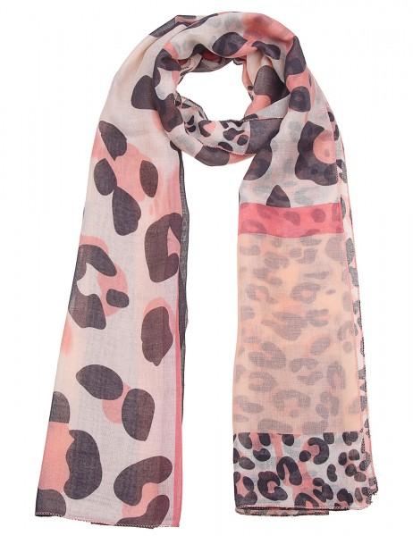Leslii Damen-Schal Leo Look Animal-Print weicher Leo-Schal Leo-Muster Herbst-Schal Muster-Schal Kora