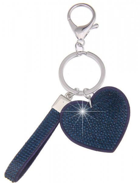 Sale Schlüsselanhänger Glitzer Herz - 03/blau