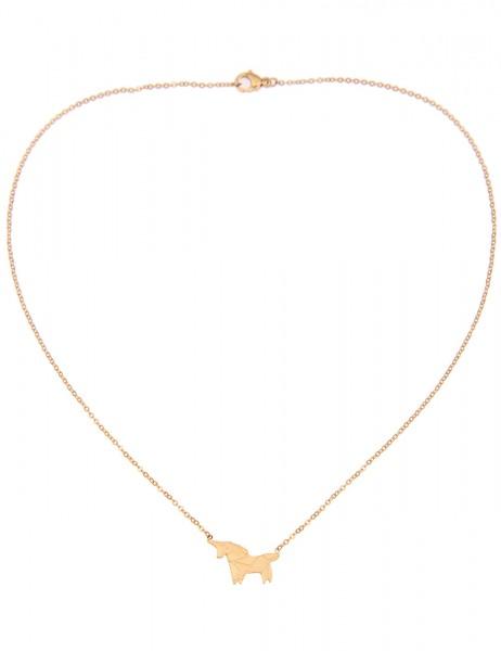 Leslii 4teen Damenkette Einhorn aus Metalllegierung Länge 39cm in Gold