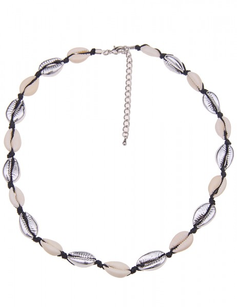 kurze Halskette - 12/weiss