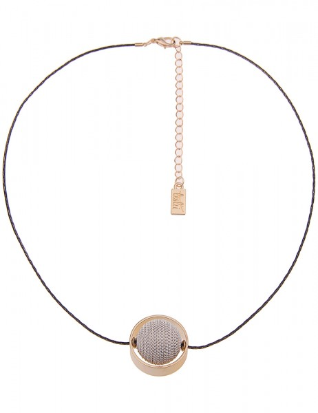 Leslii Damenkette Ketten-Kugel aus Metalllegierung Länge 46cm in Gold Weiß Schwarz