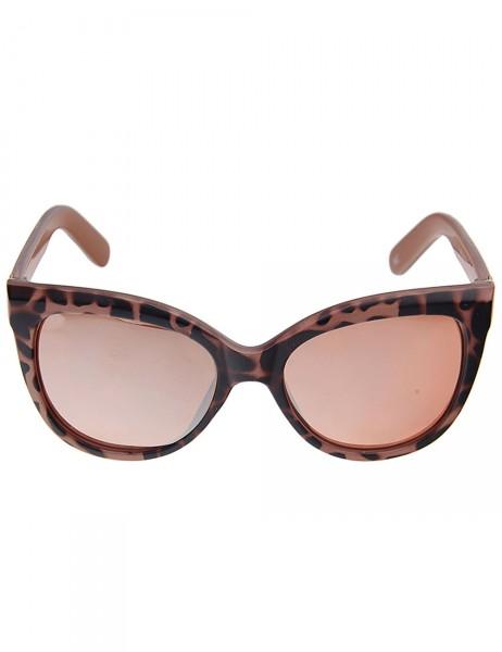 Leslii Sonnenbrille Damen Cateye-Look Animal-Print Leo-Look Designerbrille Sunglasses aus Kunststoff