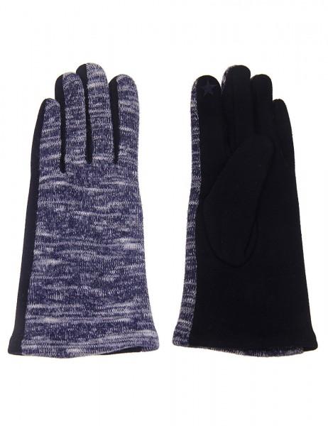 Leslii Damen Handschuhe Muster aus Polyester und Baumwolle Größe One Size in Dunkelblau Beige