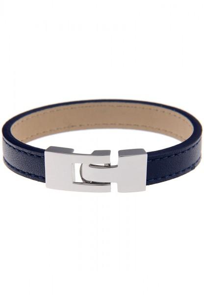 LAST CHANCE Leslii Premium Uni Blau   Trendiges Armband   Damen Leder-Schmuck   19cm