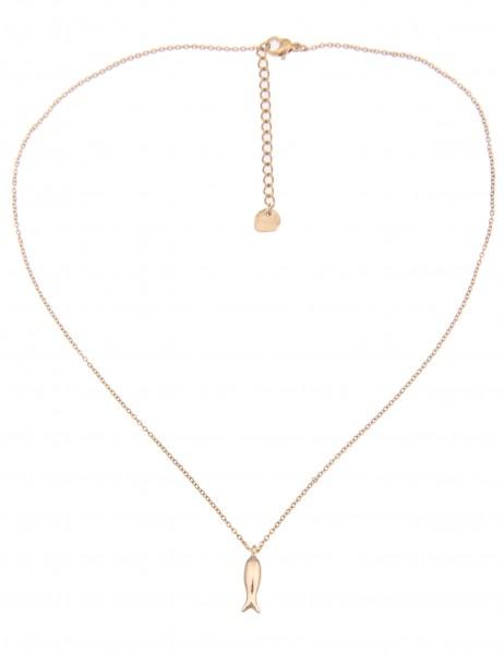 -50% SALE Leslii Damen-Kette Fisch Collier Gold Metalllegierung 41cm + Verlängerung 210116332