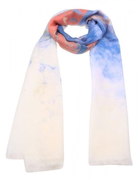 Leslii Damen-Schal Schmetterling Blau Rot 50% Viskose 50% Polyester 180cm x 78cm 900116063