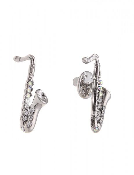 Sale Brosche Pin Saxophon - 01/silber
