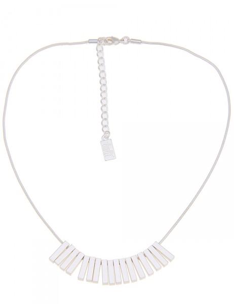 Leslii Damen-Kette Stäbe Silber Metalllegierung 42cm + Verlängerung 210115838
