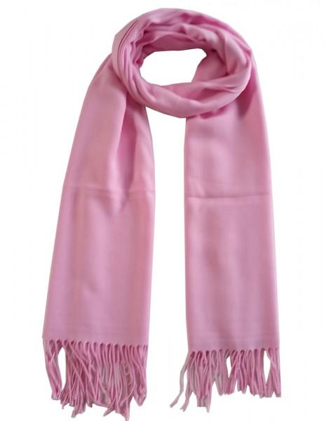 -50% SALE Leslii Damen-Schal Classic Uni Millennial-Pink Polyester & Viskose 186cm x 80cm 902516500