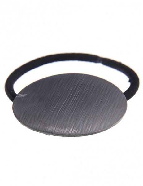 -50% Leslii Haargummi Zopfband Rund Schwarz | Damen Mode-Accessoire | Haar-Schmuck Ø 4,4cm