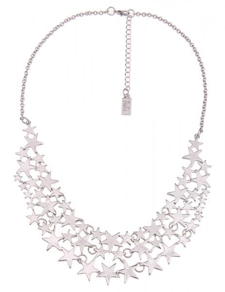 LAST CHANCE Leslii Damen-Kette Silver Stars Metalllegierung 44cm + Verlängerung 210114531