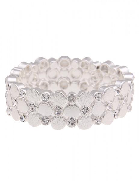 Leslii Damen-Armband in Silber mit Strass-Steinen