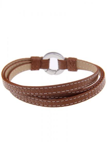 LAST CHANCE Leslii Premium Naht Braun   Trendiges Armband   Damen Leder-Schmuck   19cm