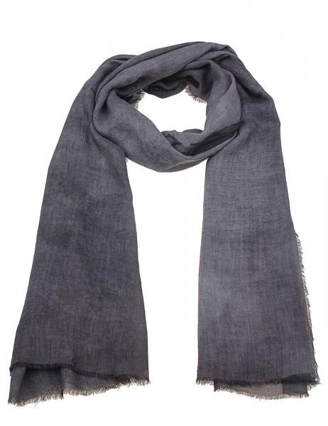 -50% SALEL Leslii Damen-Schal Uni Look 50% Viskose, 50% Polyester 180cm x 84cm Dunkelgrau