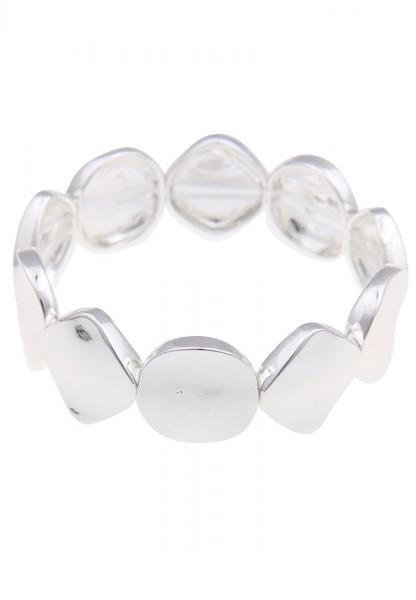 Leslii Formen Silber | Trendiges Armband | Damen Mode-Schmuck | 18cm flexibel