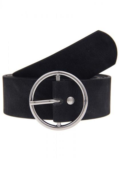 -40%Sale Leslii Uni Rundschnalle Schwarz | Trendiger ausgefallener Gürtel | Damen Mode-Accessoire |