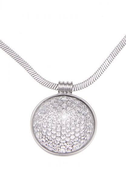 -70% SALE Leslii Damenkette Glitzer Explosion aus Metalllegierung mit Strass Länge 42cm in Silber We