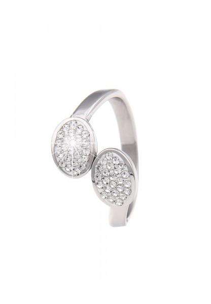 Sale Premium Ring Edelstahl Strass - 01/silber