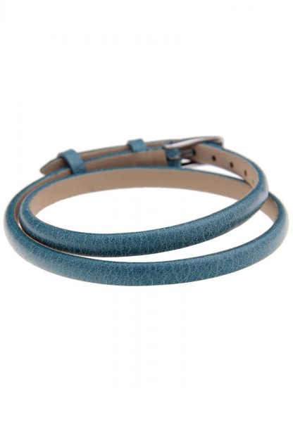 -70% SALE Leslii Premium Trendy Blau   Trendiges Wickelarmband   Damen Leder-Schmuck   40cm