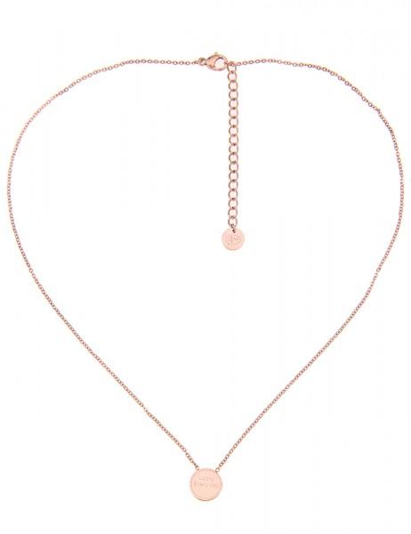 -50% SALE Leslii 4Teen Damenkette Lucky aus Metalllegierung Länge 39cm in Rosé