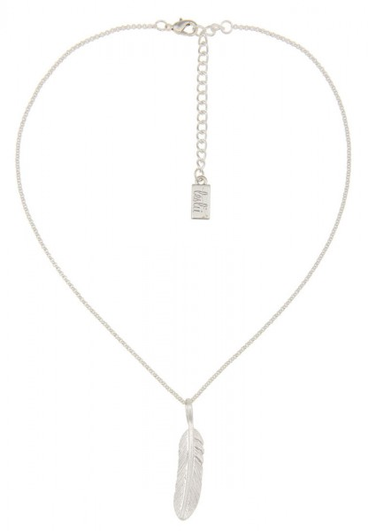 Kurze Halskette Silver Feather silber