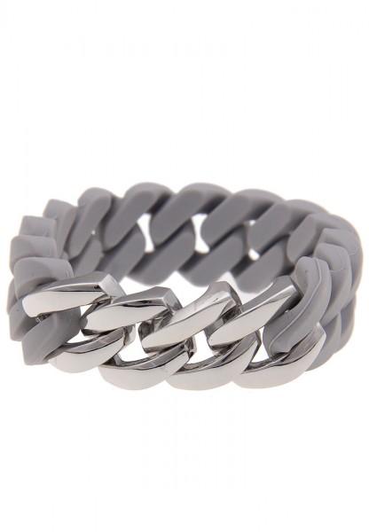 Last Chance! Leslii Statement Glieder Grau Silber | Trendiges ausgefallenes Armband | Damen Mode-Sch