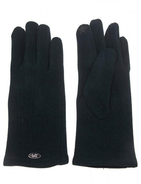 Leslii Damen-Handschuhe Fashion Nähte Naht-Muster grüne Winter-Handschuhe Teddy-Fell weiche Handschu