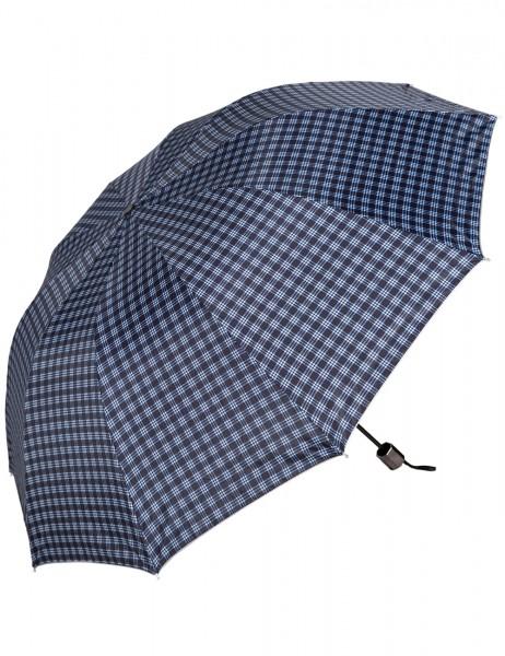 -50% SALE Leslii Regen-Schirm Karo-Muster Blau| Damen-Schirm Mode-Accessoire | Ø 122cm
